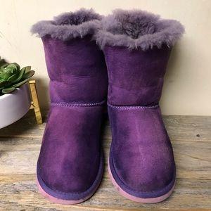 UGG Shoes - Ugg Bailey Bow Purple Pink Girls 2